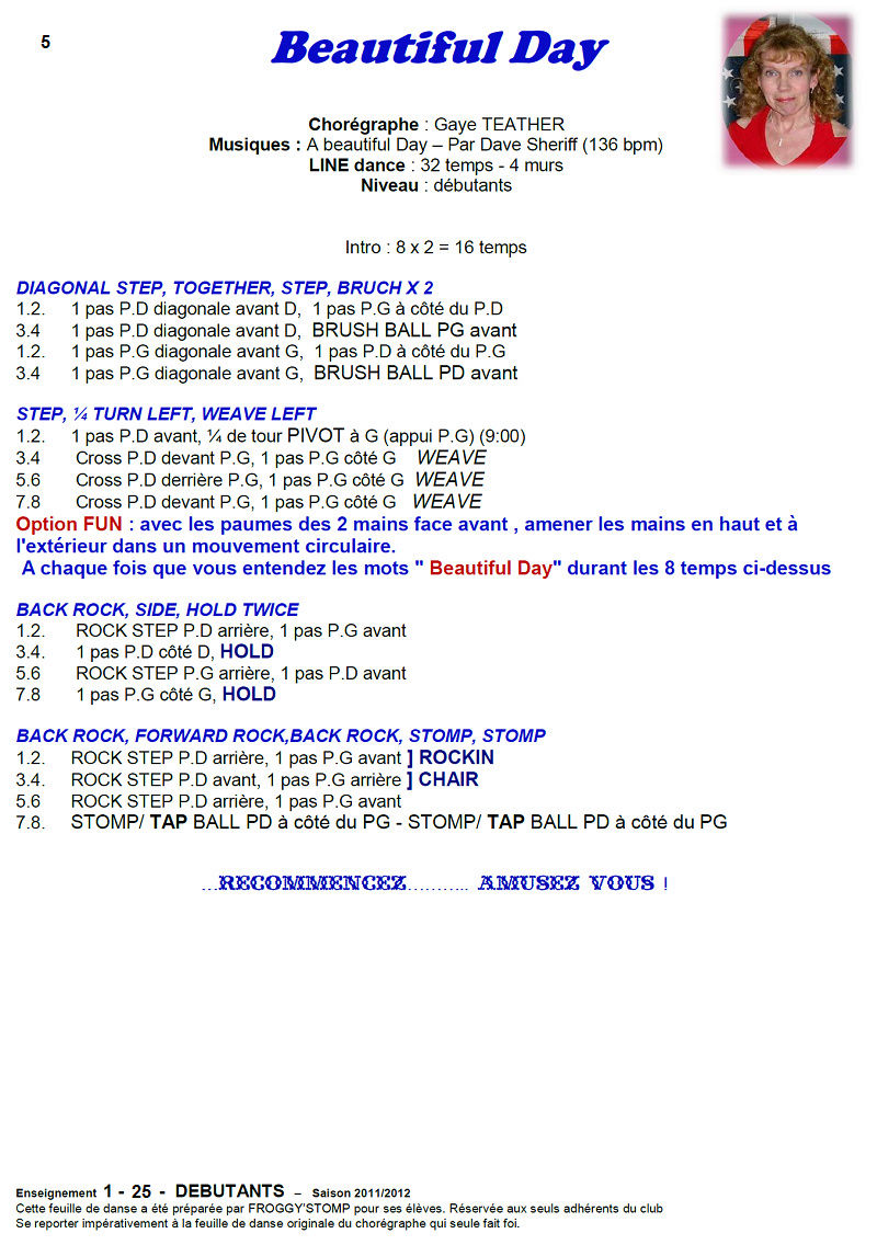 2011/ 2012 CHOREGRAPHIES DEBUTANTS NOVICES INTERMEDIAIRES 511