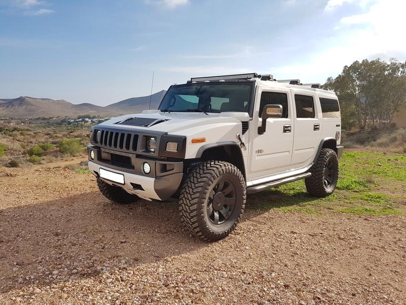 Mon HUMMER H2 2009 White / Carbone bodybuildé 20161212