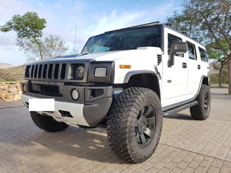 Mon HUMMER H2 2009 White / Carbone bodybuildé 20161214