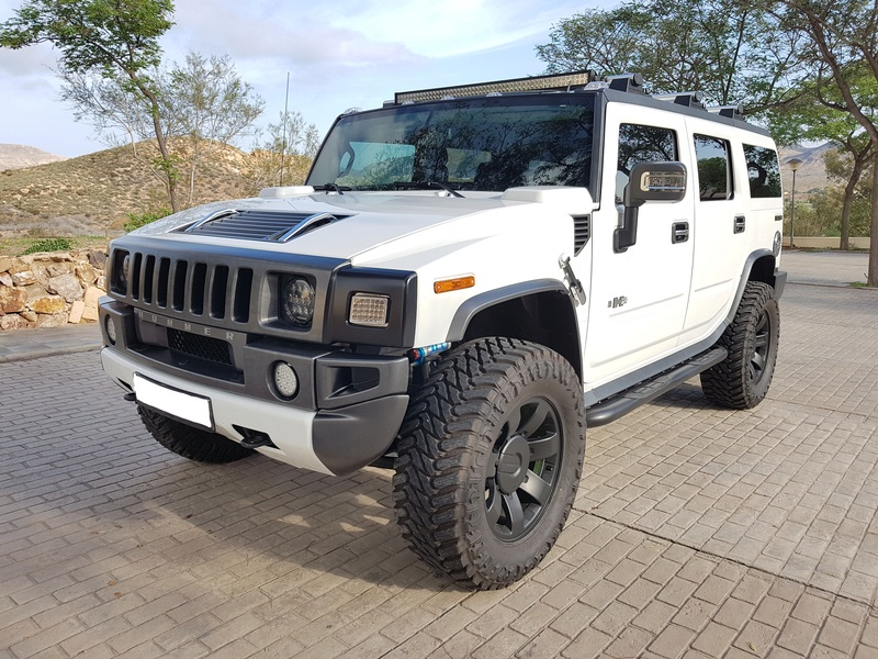 Mon HUMMER H2 2009 White / Carbone bodybuildé 20161215