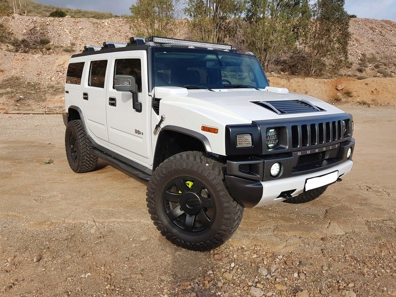 Mon HUMMER H2 2009 White / Carbone bodybuildé 20161216