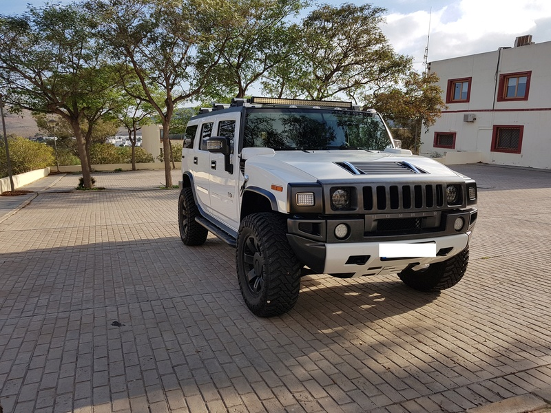 Mon HUMMER H2 2009 White / Carbone bodybuildé 20161217