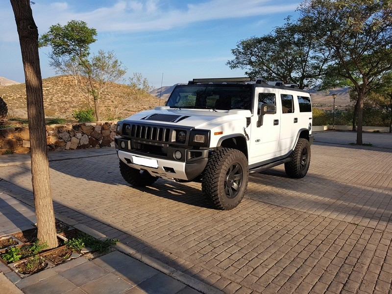 Mon HUMMER H2 2009 White / Carbone bodybuildé 20161218
