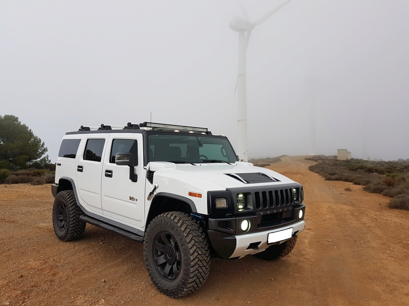 Mon HUMMER H2 2009 White / Carbone bodybuildé 20161225