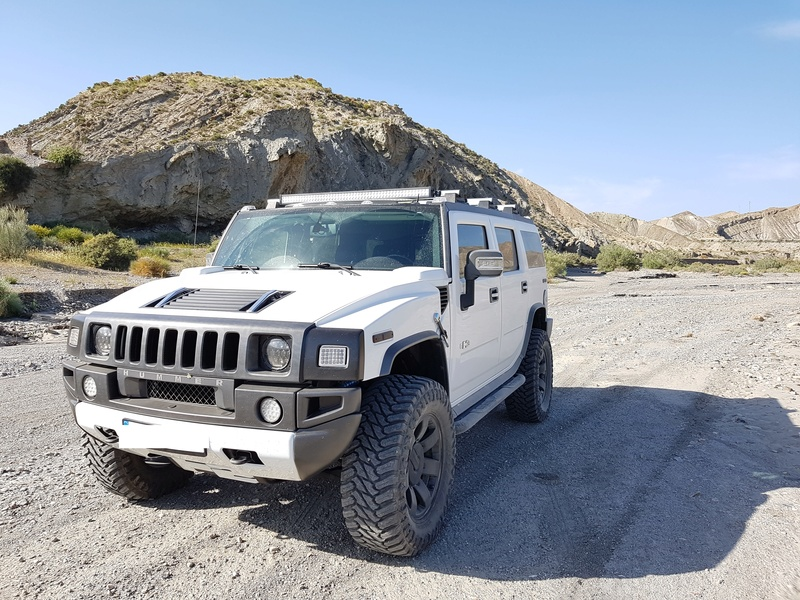 Mon HUMMER H2 2009 White / Carbone bodybuildé 20170414