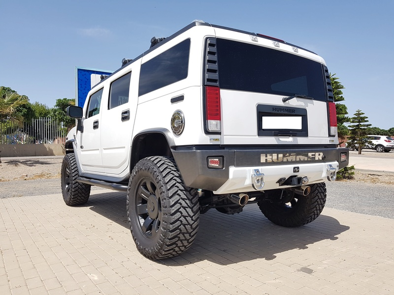 Mon HUMMER H2 2009 White / Carbone bodybuildé 20170512