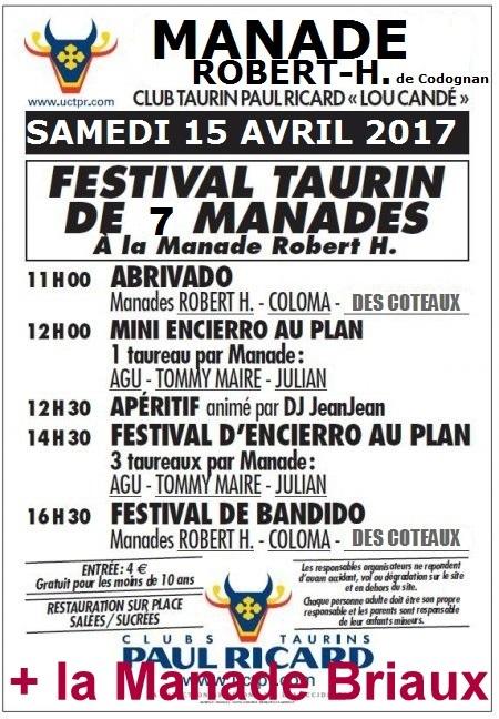 """le 15 Avril 2017 """"2ième Festival de 6 Manades"""" Manade13"""