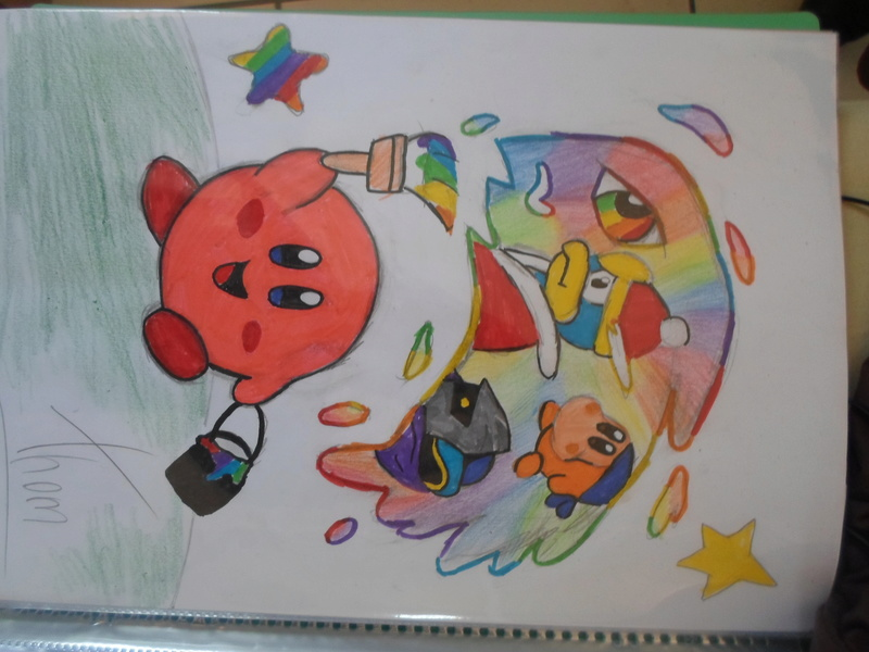 Quand Thomtom rencontre ses amis les crayons... Kirby11