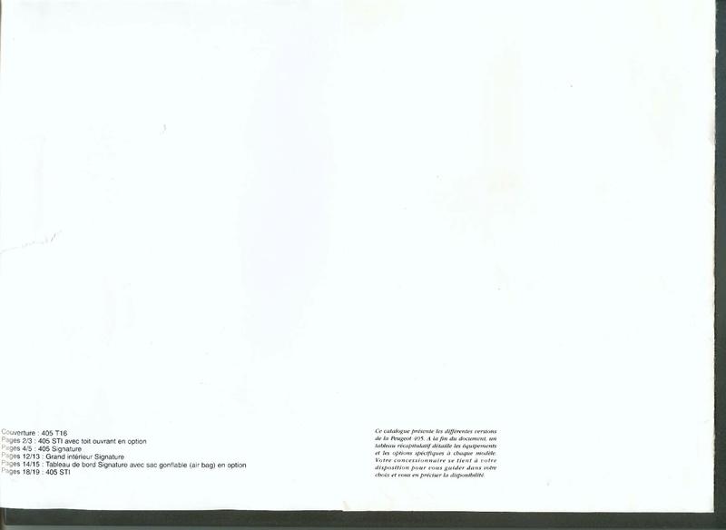 Brochure d'époque gamme 405 (1994) Brochu29