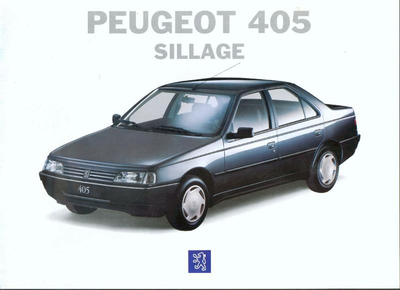 Brochure d'époque gamme 405 (1994) Brochu34
