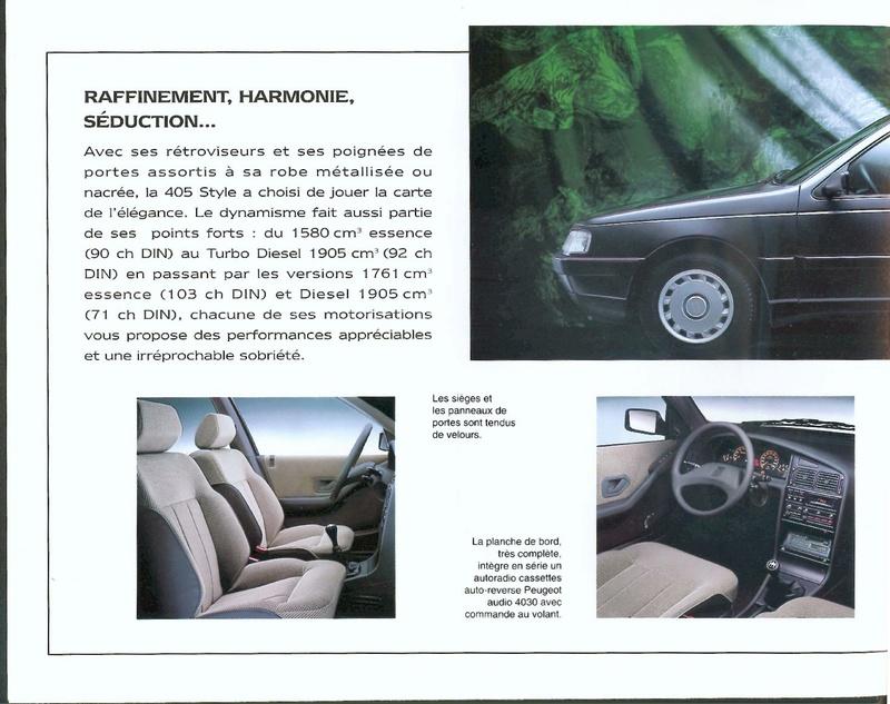 Brochure d'époque gamme 405 (1994) Brochu38