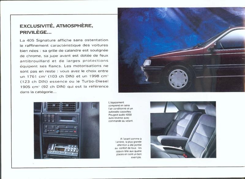 Brochure d'époque gamme 405 (1994) Brochu42