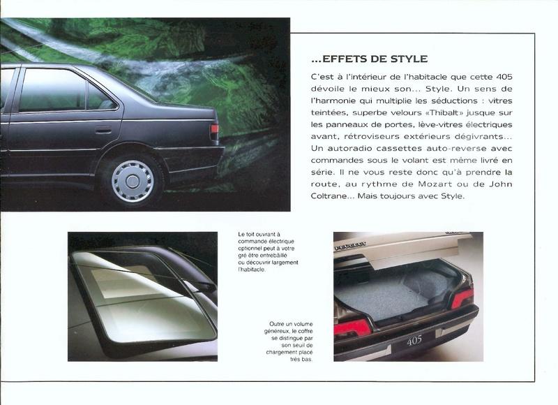 Brochure d'époque gamme 405 (1994) Brochu43