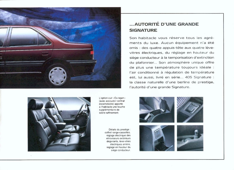 Brochure d'époque gamme 405 (1994) Brochu44