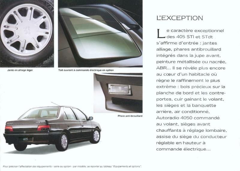 Brochure d'époque gamme 405 (1994) Brochu46