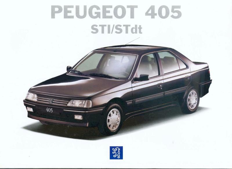 Brochure d'époque gamme 405 (1994) Brochu48