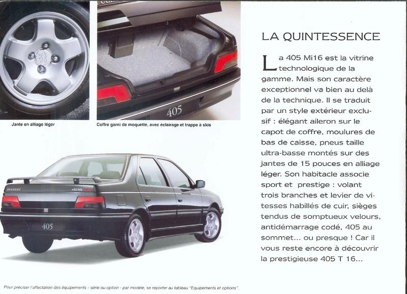 Brochure d'époque gamme 405 (1994) Brochu49