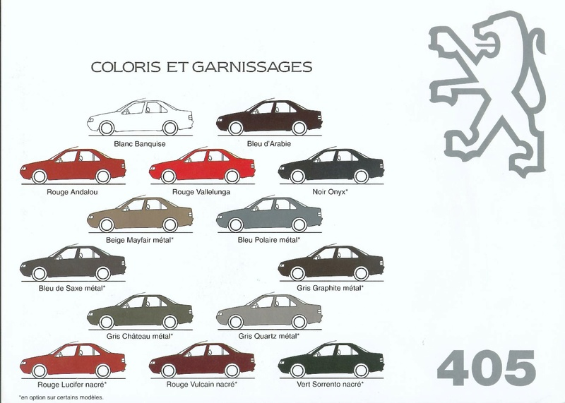 Brochure d'époque gamme 405 (1994) Brochu52