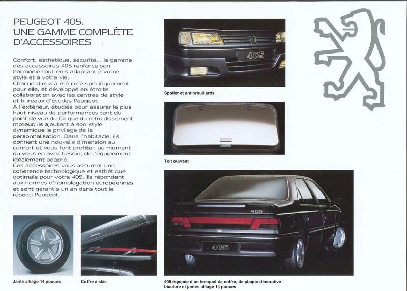 Brochure d'époque gamme 405 (1994) Brochu54