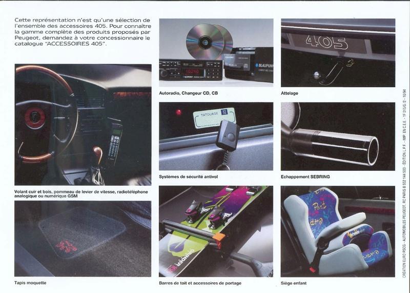 Brochure d'époque gamme 405 (1994) Brochu55