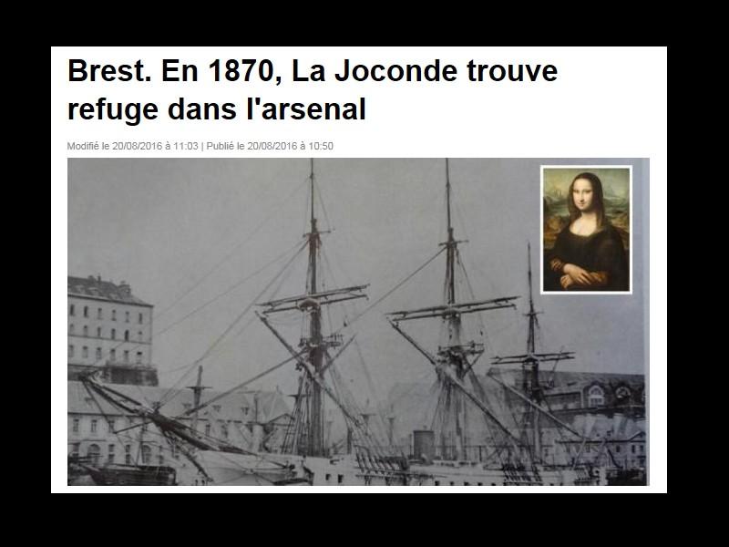 Guerre de 1870. La Joconde trouve refuge en Bretagne 12339
