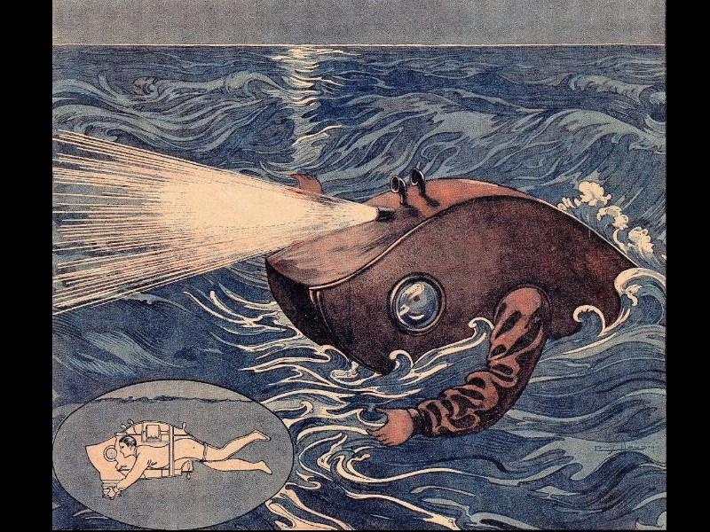 Un étrange nageur, le sous-marin personnel (1919) 324