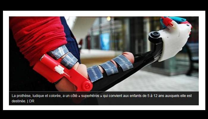 Saint-Brieuc. Ils offrent à Lola, 5 ans, une prothèse de main imprimée en 3D M47