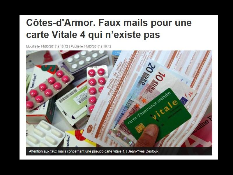 Côtes-d'Armor. Faux mails pour une carte Vitale 4 qui n'existe pas  Sans_229