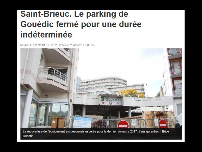 Saint-Brieuc. Le parking de Gouédic fermé pour une durée indéterminée  Sans_313