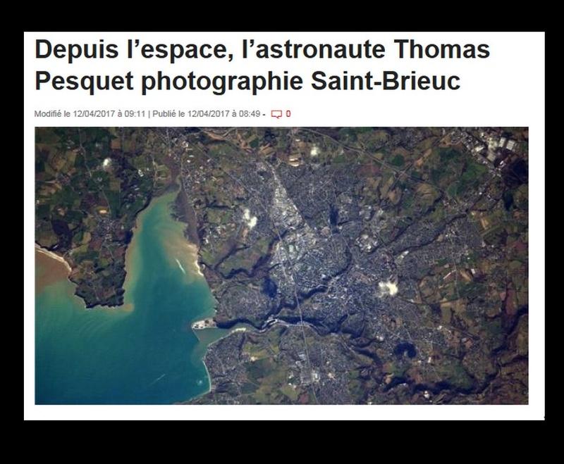 Depuis l'espace, l'astronaute Thomas Pesquet photographie Saint-Brieuc  Sans_521