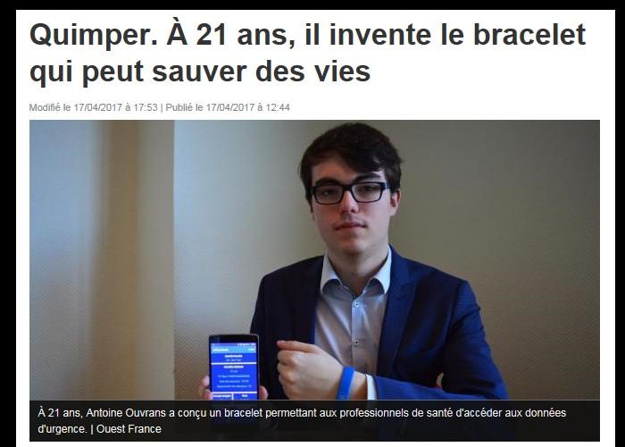 Quimper. À 21 ans, il invente le bracelet qui peut sauver des vies  Sans_614