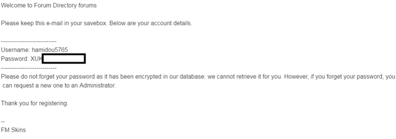 Do not send password by email Sans_t10