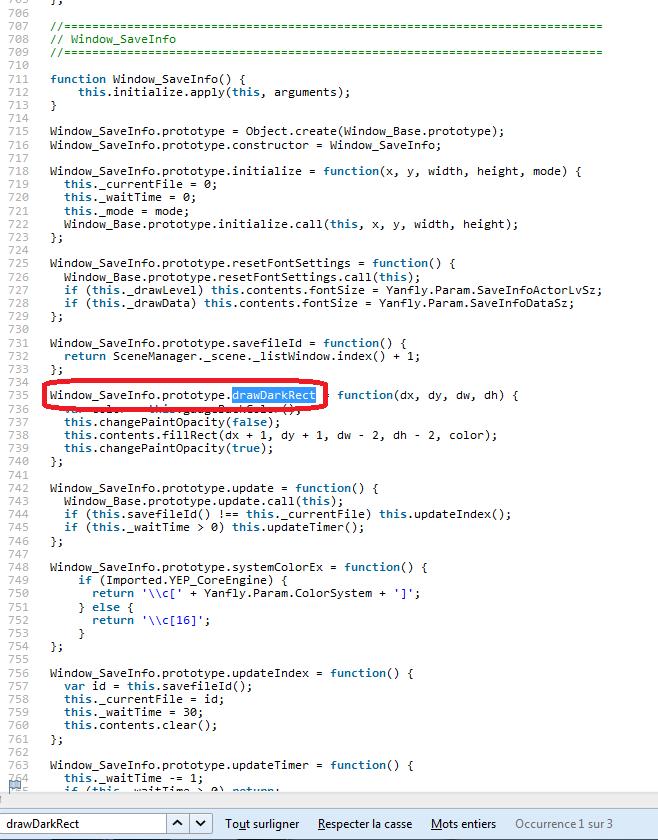 Modifier le fond bleu des plugins de menu de Yanfly Tuto311