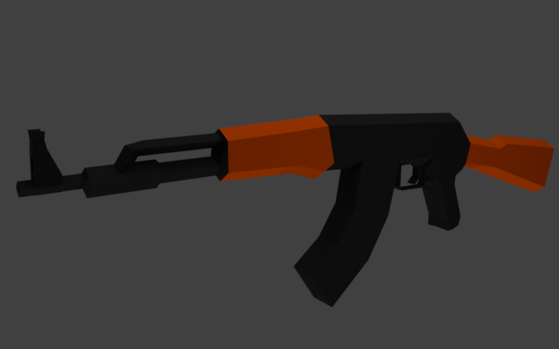 Free 3D Low Poly AK 47 Free3d10