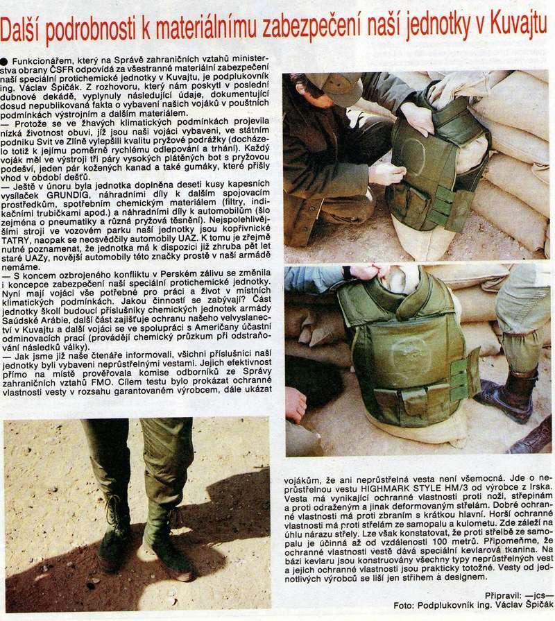 Bulletproof vest/Body armor used by Czechoslovakian/Czech forces in UNPROFOR mission Atom_610