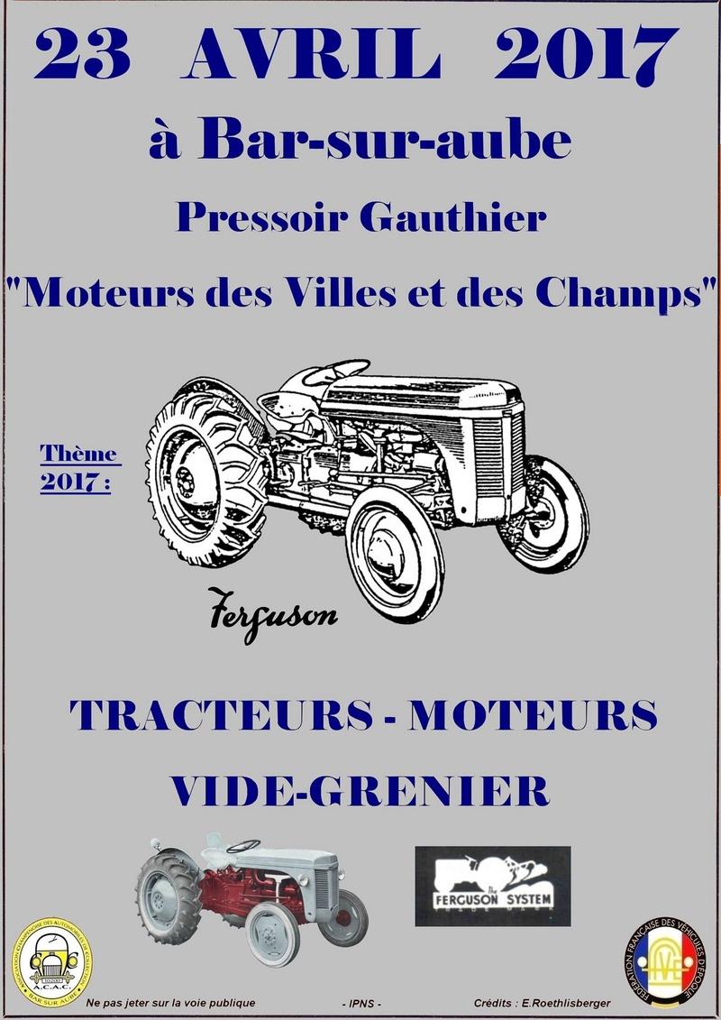 """""""Moteurs des Villes et des Champs"""" le 23 avril 2017 à Bar-sur-Aube(10200) Affich12"""