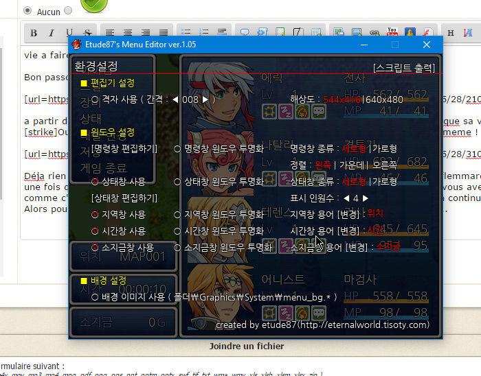 Editer le menu 410
