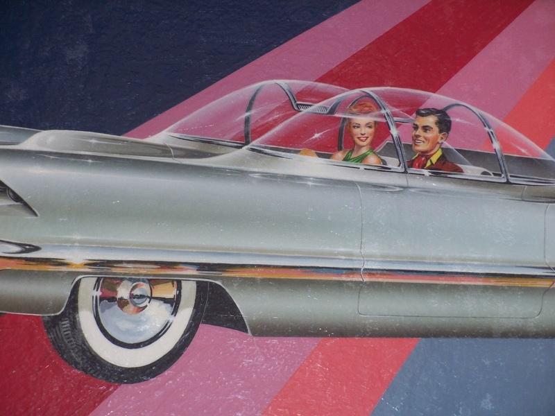 """REVELL- LINCOLN FUTURA-ORIGINAL """"S"""" KIT BOX ART - La peinture originale de la boite de la Futura Revell datant des 1950s!!! 337"""