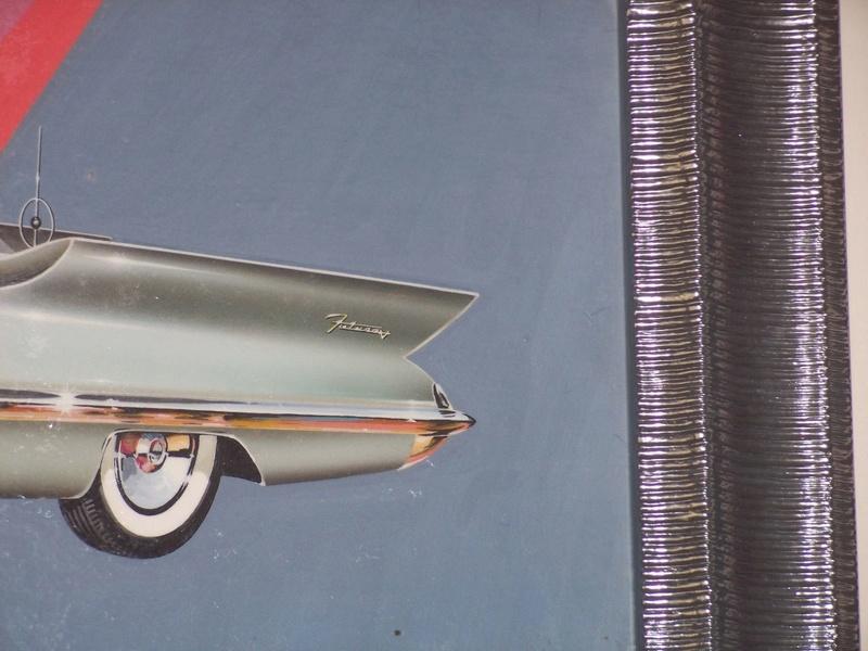 """REVELL- LINCOLN FUTURA-ORIGINAL """"S"""" KIT BOX ART - La peinture originale de la boite de la Futura Revell datant des 1950s!!! 538"""