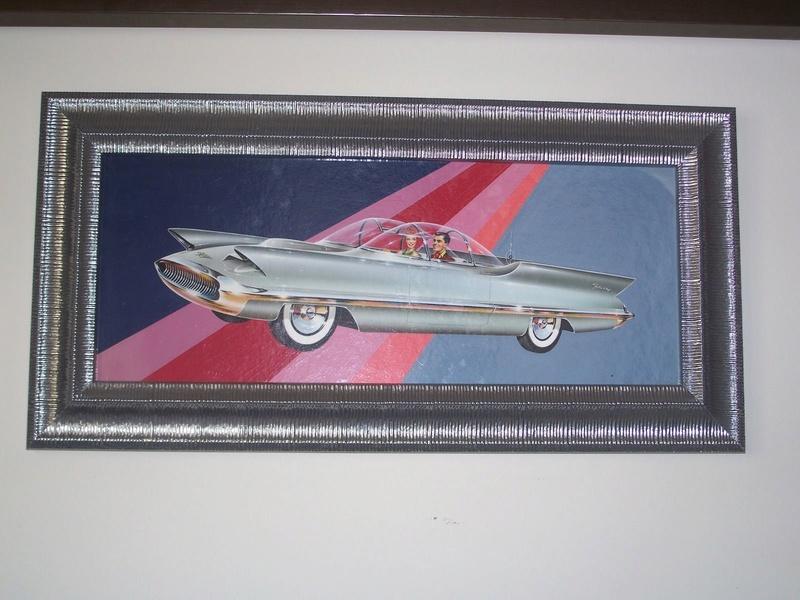 """REVELL- LINCOLN FUTURA-ORIGINAL """"S"""" KIT BOX ART - La peinture originale de la boite de la Futura Revell datant des 1950s!!! 636"""