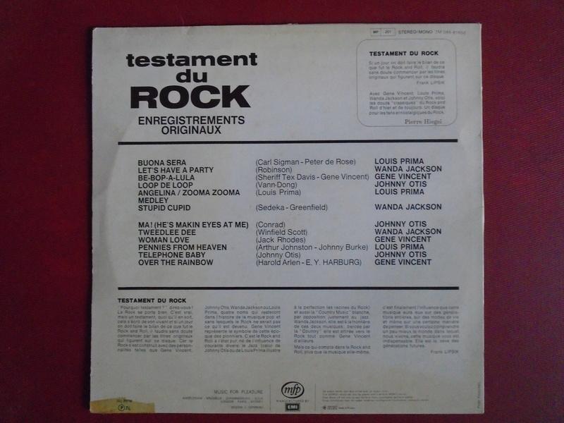 Testaments du Rock - Capitol records / MFP - Gene Vincent , Wanda Jackson, Johnny Otis , Louis Prima... Dsc06611