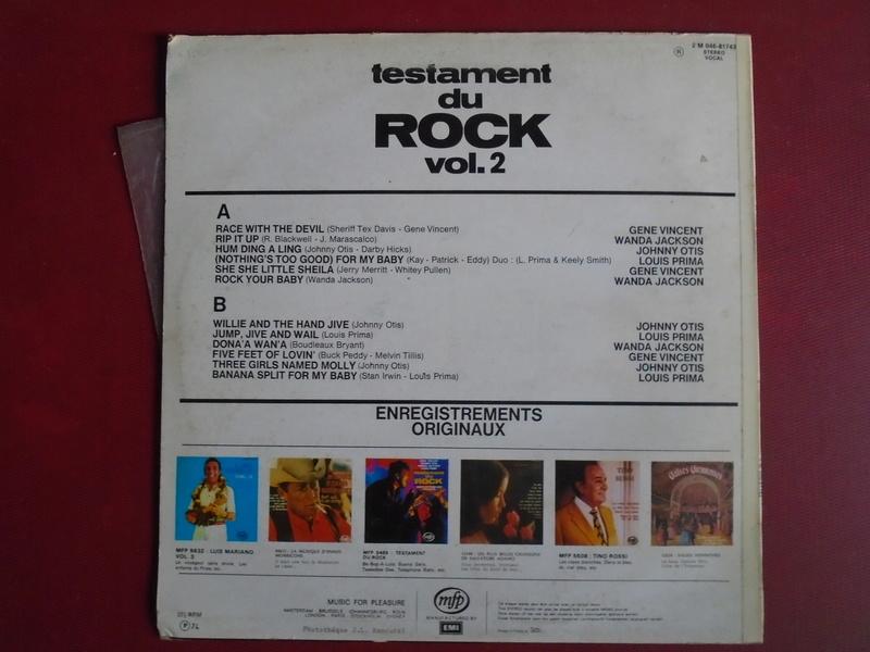 Testaments du Rock - Capitol records / MFP - Gene Vincent , Wanda Jackson, Johnny Otis , Louis Prima... Dsc06613