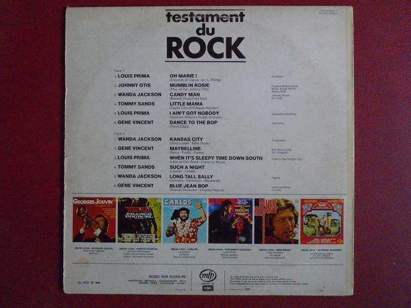 Testaments du Rock - Capitol records / MFP - Gene Vincent , Wanda Jackson, Johnny Otis , Louis Prima... Dsc06615