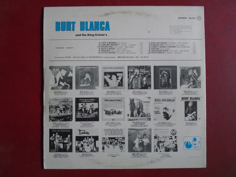 Burt Blanca and the King Creole's lp 33 tours Dsc06632