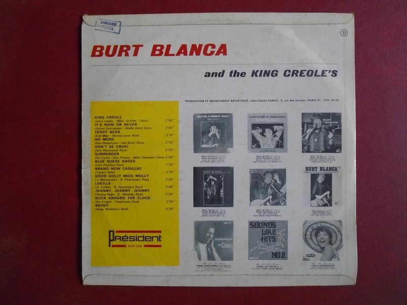 Burt Blanca and the King Creole's lp 33 tours Dsc06642