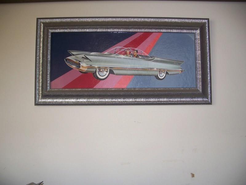 """REVELL- LINCOLN FUTURA-ORIGINAL """"S"""" KIT BOX ART - La peinture originale de la boite de la Futura Revell datant des 1950s!!! S-l16013"""