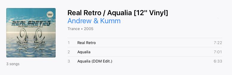 Andrew & Kumm – Real Retro / Aqualia - 2005 - AIFF - Insolent Tracks - Vinilo Screen11