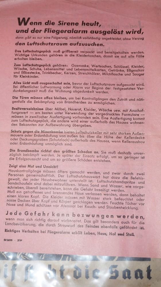 Livret HJ et tract luftschutz Dsc02926