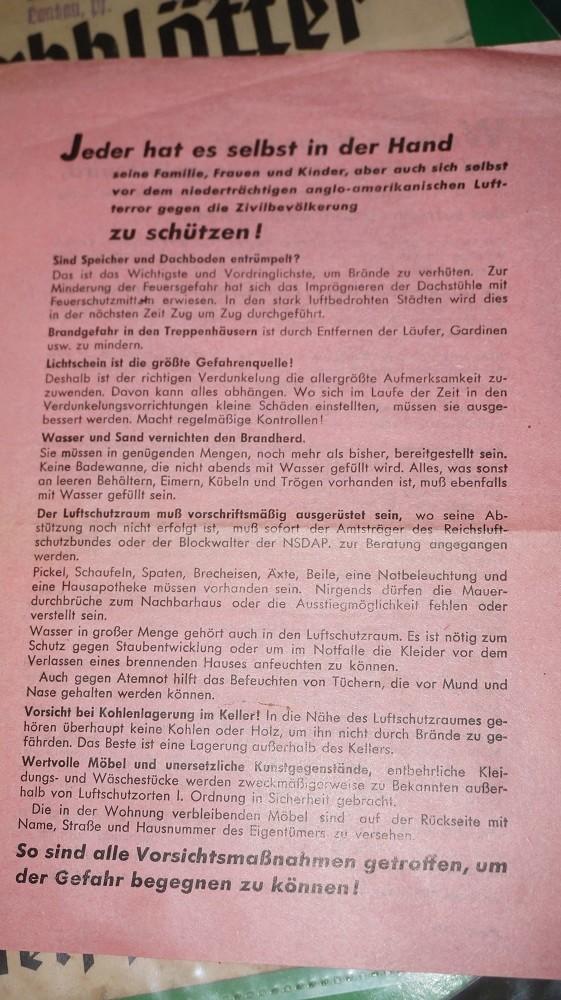 Livret HJ et tract luftschutz Dsc02928