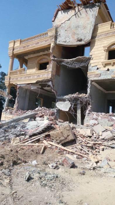 إزالة قصر أكبر تاجر مخدرات مقام على 10 أفدنة بمحافظة الشرقية 60654-10